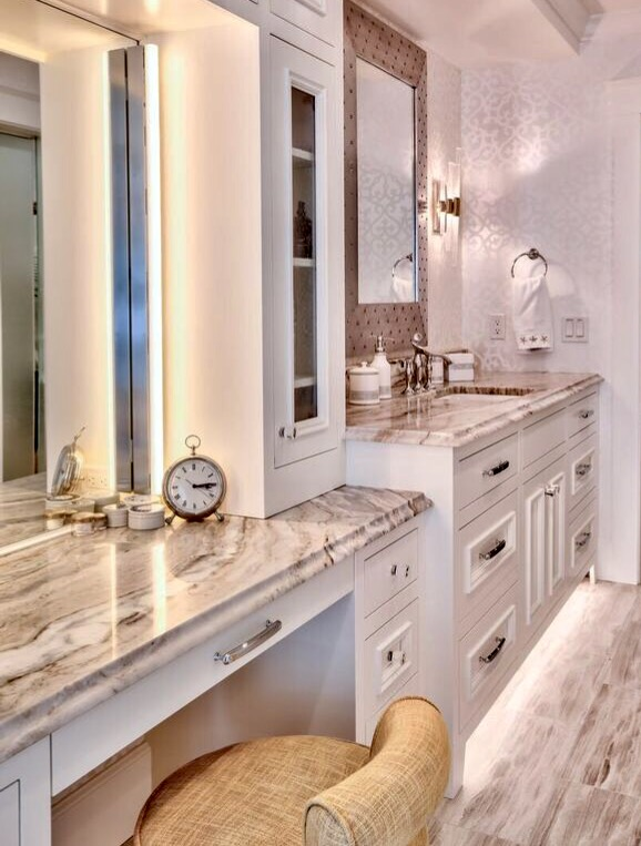 Multi tier bathroom sink and vanity