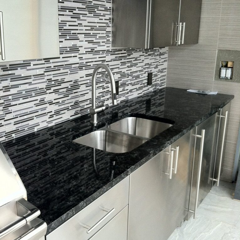 sink and backsplash